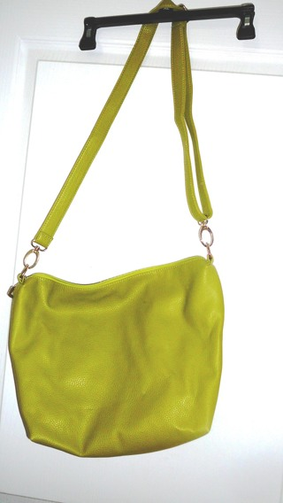 "Nice Leather ""O"" Style Lime Green shoulder Purse"