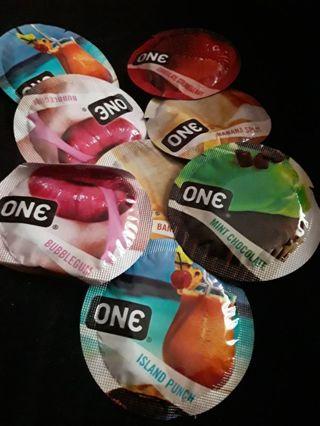 Flavored latex condoms
