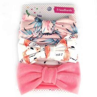 3pcs/lot baby girl headband for newborn babies hair band elastic accessories cotton BowKnot headwe