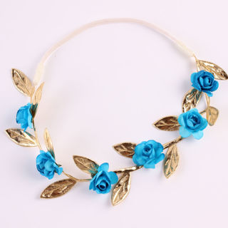 Baby Rose Flower Garland Chic Wedding Flower Girl Headband Elastic Crown Wreath