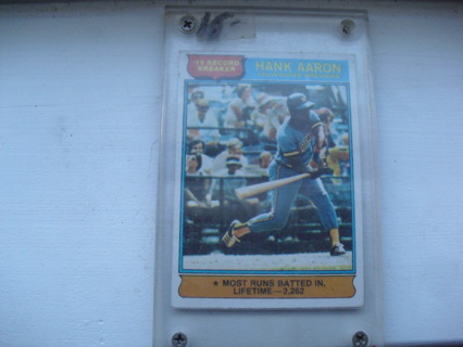 Vintage 1976 Topps Hank Aaron RB Card #1 EX to NM