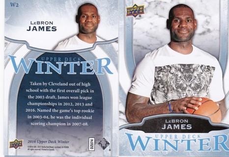 2016 Upper Deck Winter Lebron James #W2
