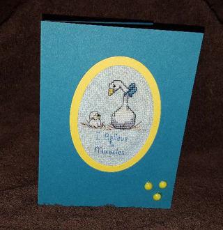 Counted Cross stitch Card - handmade
