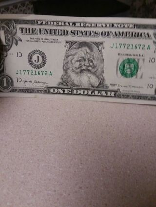 2017 Santa bill fund raising collectible bill