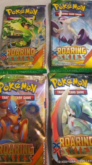 4 Roaring skies booster packs Pokemon