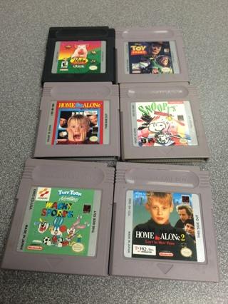 One sega Genesis and six gameboy games