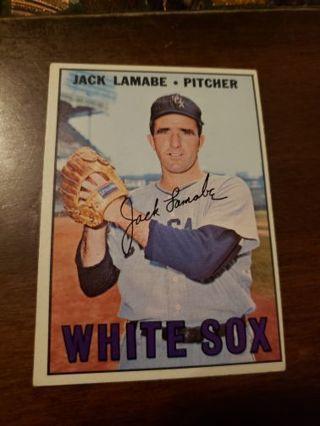 1967 Jack Lamabe Chicago white Sox vintage baseball card