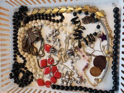 Destash junk broken jewelry for crafts etc.