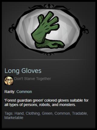 Don't Starve Together Gloves Skin