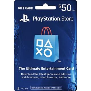 Free: $50 PlayStation Store Gift Card Code - PS3/ PS4/ PS Vita