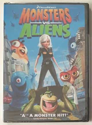Monsters vs Aliens DVD DreamWorks Movie - Brand New Factory Sealed