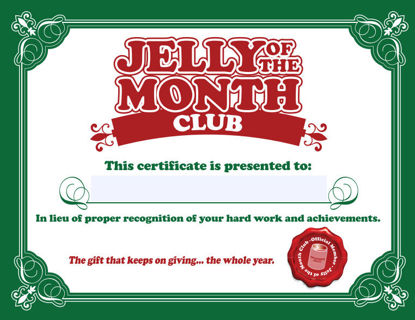 Free christmas vacation jelly of the month club certificate gag christmas vacation jelly of the month club certificate gag gift yadclub Choice Image