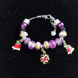 Christmas Bells,  Euro bracelet, Creations by Cris