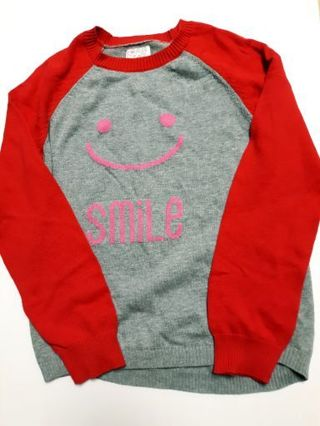 EUC Place SMILE Sweater Girls Size Large 10-12