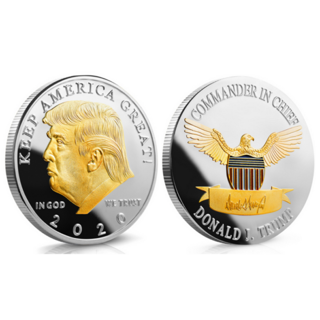 2020 President Donald Trump Gold & Silver Plated EAGLE Commemorative Coin US KY