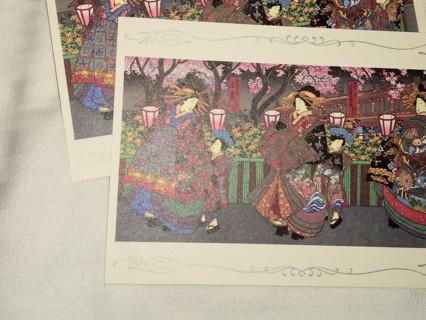 2 Vintage Asian Japan Postcards - Unused - Asahi
