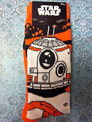 NEW in Pack - Disney Star Wars The Force Awakens BB-8 Socks for Shoe Sizes 6-12