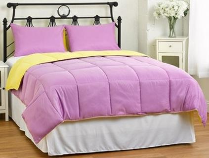 free new lightweight reversible down alternative summer comforter pillow sham set choose. Black Bedroom Furniture Sets. Home Design Ideas