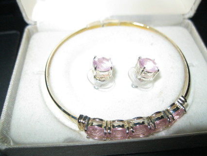 Pink Ice Bracelet & Earrings
