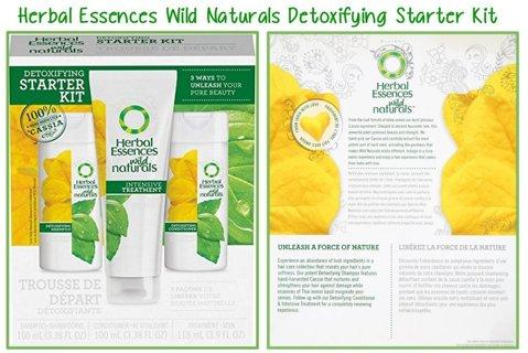 3 Pc Herbal Essences Wild Naturals Detoxifying Starter Kit Hair Clarifying Collection
