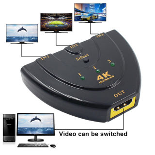 1080P 3D Full HD 4k*2k HDMI Switch Splitter Adaptor 3 in1 Out Switcher 3Port Hub