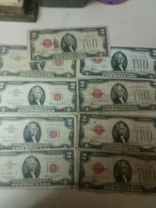 18 dollars face value in red seals 3 days only