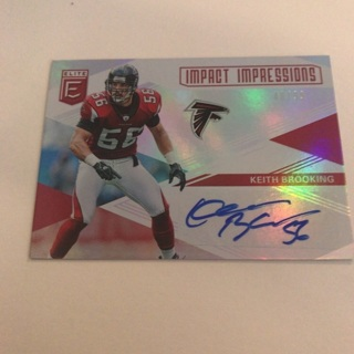 2019 Elite Keith Brooking Impact Impressions Autograph Card