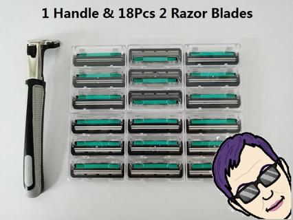 (NIP)Twin Blade Shaver Set incl. 18 refills!