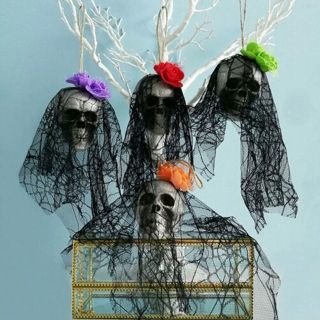 Skull Prop Halloween Horrible Hanging Ornaments Foam Party Supplies