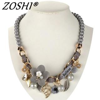 2019 NEW fashion necklace collar Flower Necklaces & Pendants trendy choker chunky metal chain stat