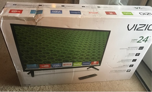 "vizio 24"" brand new free shipping"