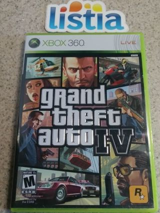 XBOX360 Grand Theft Auto IV Game.