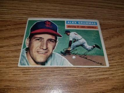 1956 Topps Baseball Alex Grammas #37 St Louis Cardinals,VGEX condition,Free Shipping!