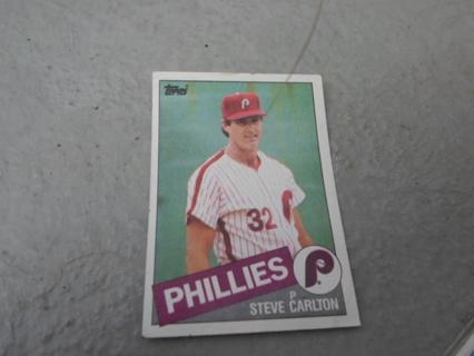 1985 Philadelphia Phillies Steve Carlton Baseball Card