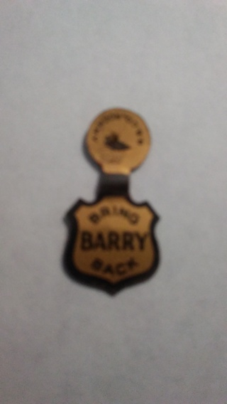 Bring Barry Back Political Tab Pin