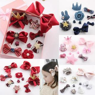 10Pcs Kids Toddler Hairpin Baby Girls Cartoon Animal Princess Moti Hair Clip Set