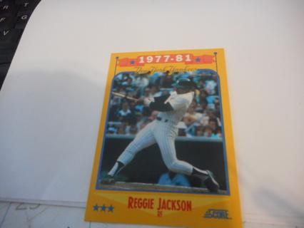 Free 1988 Score Salute To Reggie Jackson 1977 81 Baseball Card