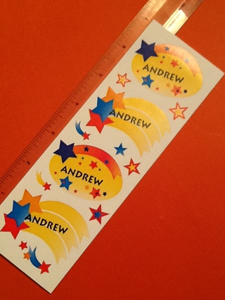 Ships U.S. Only/Andrew stickers
