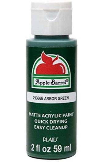 1 Random Green Color Apple Barrel Acrylic Paint 2oz