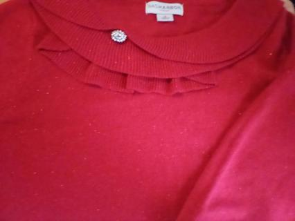 Size 1X Sagharbor Red Sweater: EUC