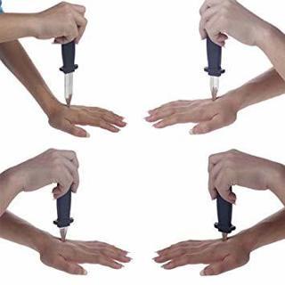Disappearing Dagger Knife Prank Joke Gag Magic Trick Fake Silver Plastic Prop