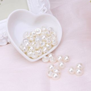 50Pcs Faux Pearl Buttons Fit Sewing Scrapbook Backhole Sewing Crafts 10/11.5mm
