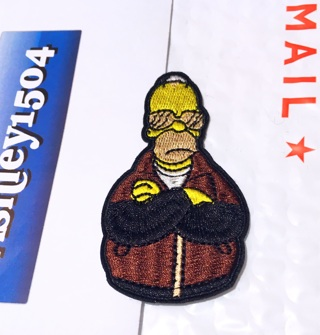 NEW SIMPSONS IRON ON PATCH CARTOON HOMER SIMPSON APPLIQUE BADGE PATCH FREE SHIPPING
