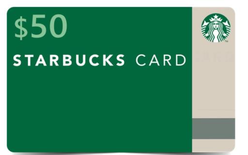 StarBucks $50 E-gift card