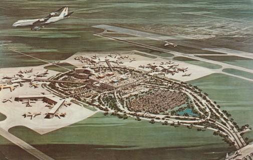 Vintage Used Postcard: 1972 New Tampa International Jetport Terminal, FL