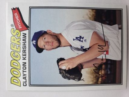 2018 Topps Archives Baseball card Clayton Kershaw Los Angeles Dodgers