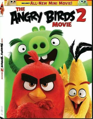 Angry Birds Movie 2 [DVD] [2019] NEW*Action, Family, Animation FREE SHIPPING!!!