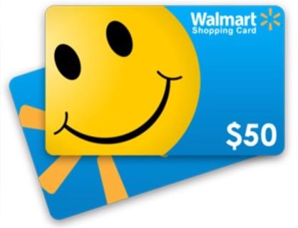 $50 Amazon, Walmart, Target, etc. Gift Card!! Choose Actual Card w/tracking or E-Card!