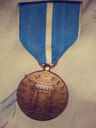 Bronze korean service medal