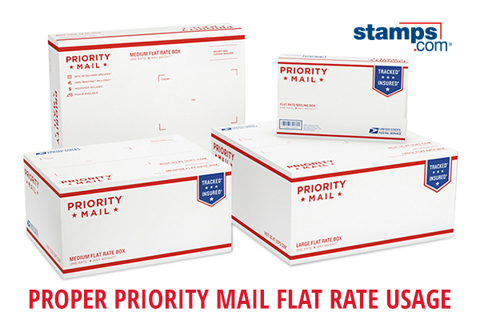 4 qty.NEW MYSTERY SMALL FLAT RATE PRIORITY BOX